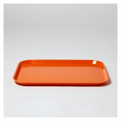 Plateau rectangle orange